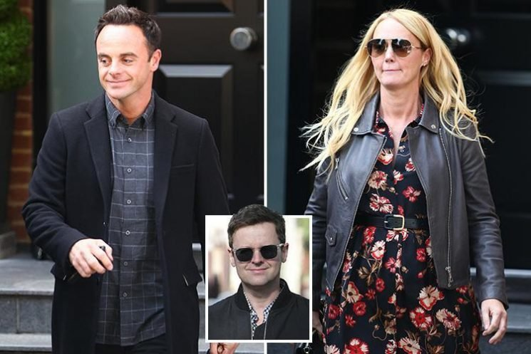 Ant McPartlin grins after visiting best pal Dec on his birthday with girlfriend Anne-Marie Corbett