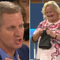 Jeremy Kyle viewers in hysterics after guest gives him a jar of sweets in dog poo bag