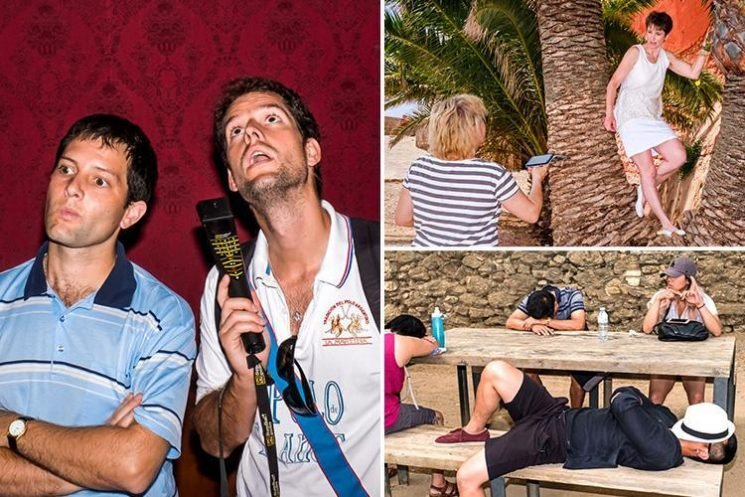 Hilarious pictures of bored tourists show the mundane side of holidays in new book