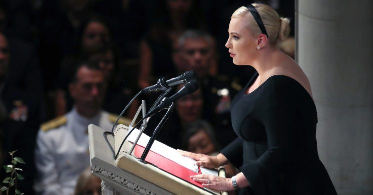Meghan McCain Slams Trump in Emotional Speech at Father John McCain's D.C. Funeral