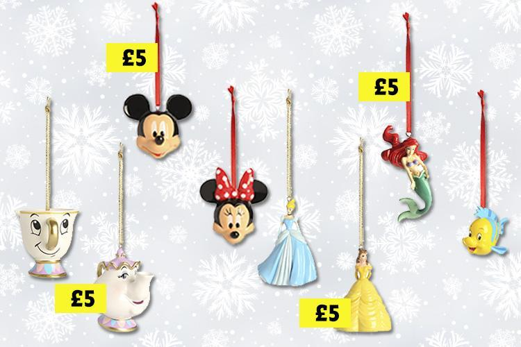 Primark set to sprinkle Disney magic on your Christmas tree with £5 Mickey Mouse, Little Mermaid and Cinderella baubles
