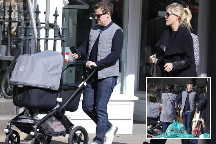 Declan Donnelly is all smiles as he goes shopping with newborn baby Isla and wife Ali
