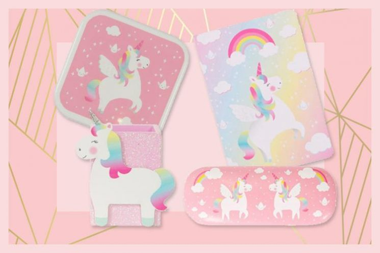 Sass & Belle have just released a back to school UNICORN range and prices start from £2