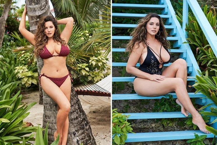 Kelly Brook looks sensational in a plunging swimsuit as she reveals sexiest ever calendar