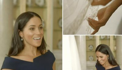 This is the sweet moment Meghan Markle was reunited with her Givenchy wedding gown four months after walking down the aisle