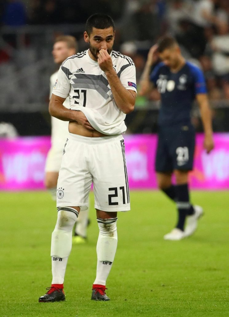 Germany 0 France 0: Ilkay Gundogan booed by home fans as race row in national side shows ugly head again in goalless draw