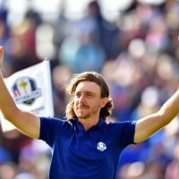 Tommy Fleetwood leads the line in Team Europe's Ryder Cup comeback – with son Frankie yards away in a pushchair