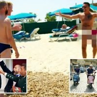 Gino D'Acampo strips TOTALLY naked on the beach during new cooking show with Gordon Ramsay and Fred Siriex