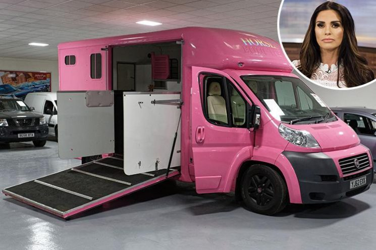 Katie Price takes horse box to auction after it fails to sell on eBay despite her knocking £130k off asking price