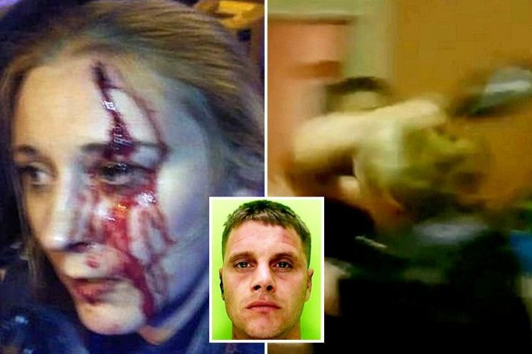Police bodycam footage shows female cop attacked with champagne bottle in brutal assault that fractured her skull