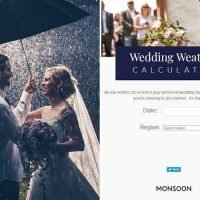 Is it going to rain on your wedding day? This calculator claims to have the answer