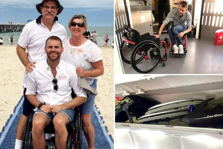 Disabled passenger removed from a Qantas flight and staff call police – over row about wheelchair