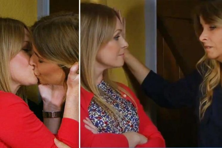 Emmerdale fans left in tears as Charity and Vanessa kiss after declaring their love for each other