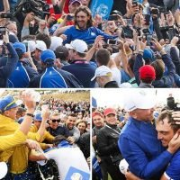 Europe win the Ryder Cup after holding off American singles charge at Le Golf National