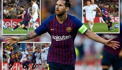 Barcelona 4 PSV 0: Lionel Messi scores hat-trick with Ousmane Dembele also on scoresheet