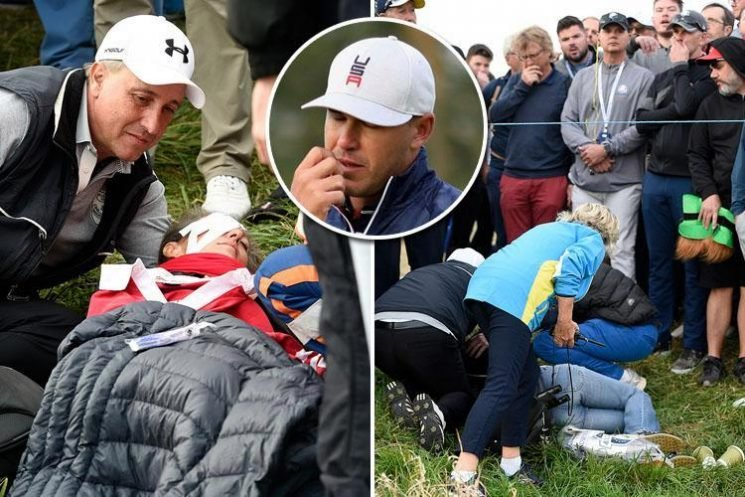 Ryder Cup 2018: Brooks Koepka 'left shaken' with woman left bloodied after being hit in head by wayward tee shot