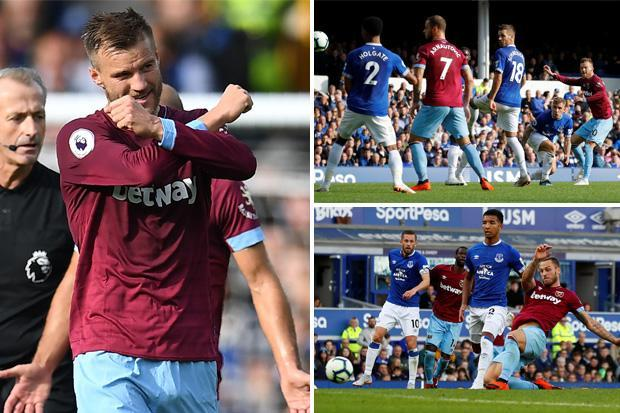 Everton 1 West Ham 3: Andriy Yarmolenko double inspires Hammers to first win of the season