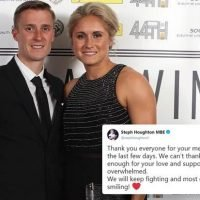 Steph Houghton thanks fans for support after husband Stephen Darby forced to retire aged 29 with motor neurone disease