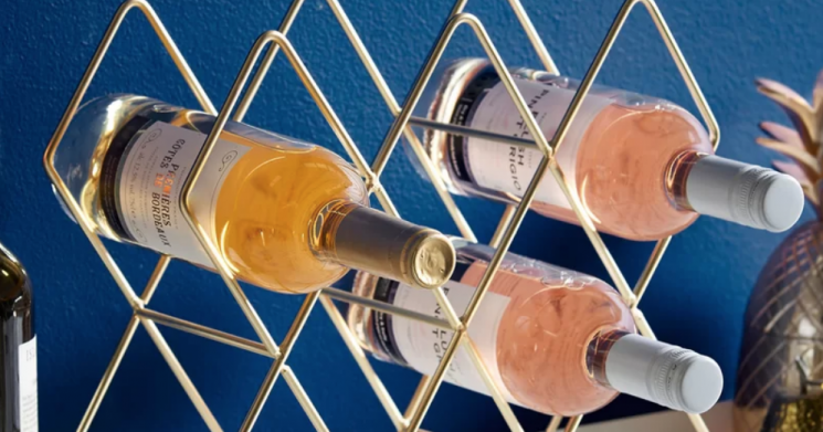 Wine Not Give Your Vino a Pretty Home With This Gold Rack!