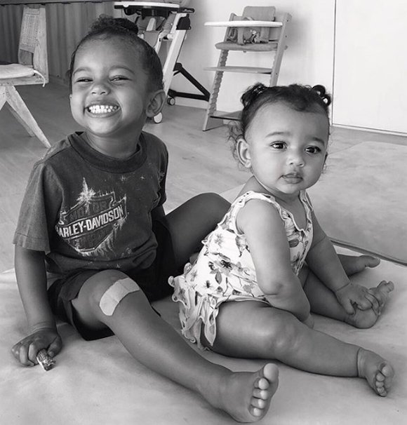 Kim Kardashian Shares Smiley Pic Of Saint & Chicago!