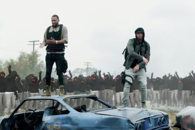 See Eminem Dance With Copycats in 'Lucky You' Video