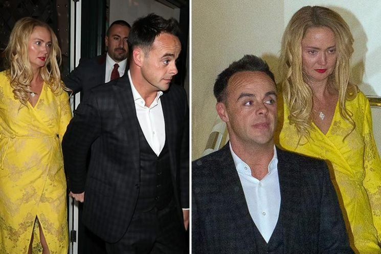 Ant McPartlin and girlfriend Anne-Marie Corbett enjoy romantic date at The Ivy Club