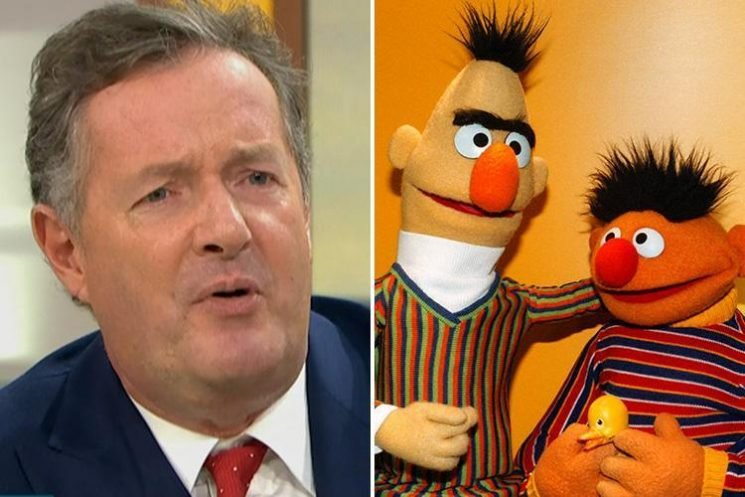 Piers Morgan tells Richard Arnold 'I bet you've had a few big birds' and claims Susanna is a virgin as Good Morning Britain feature debate on 'gay' muppets Bert and Ernie
