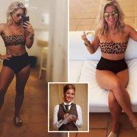 First Dates' waitress Cici Coleman looks incredible as she poses in leopard print bikini in Ibiza