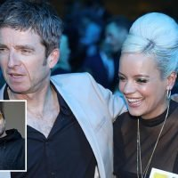 Lily Allen cuddles up to Noel Gallagher after opening up about plane romp with brother Liam behind his wife's back