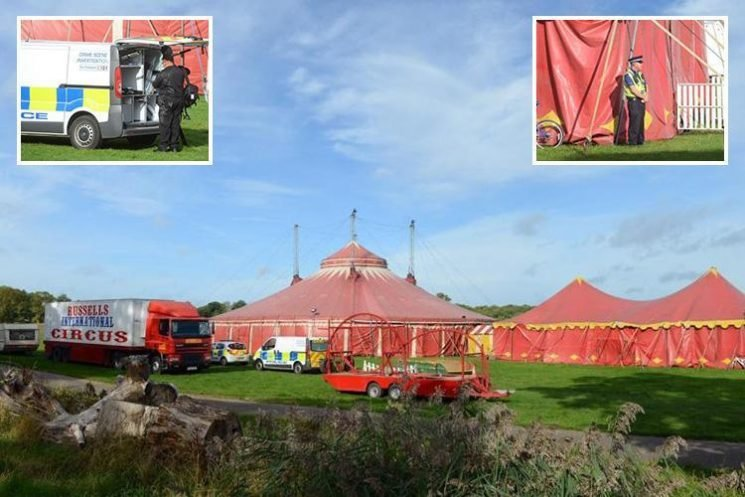 Travelling circus closed off after performer dies in 'tragic circumstances' at Grimsby resort
