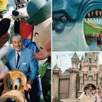 Six decades of Disneyland: new book's beautiful 1950s photos show Walt Disney as the park first opened