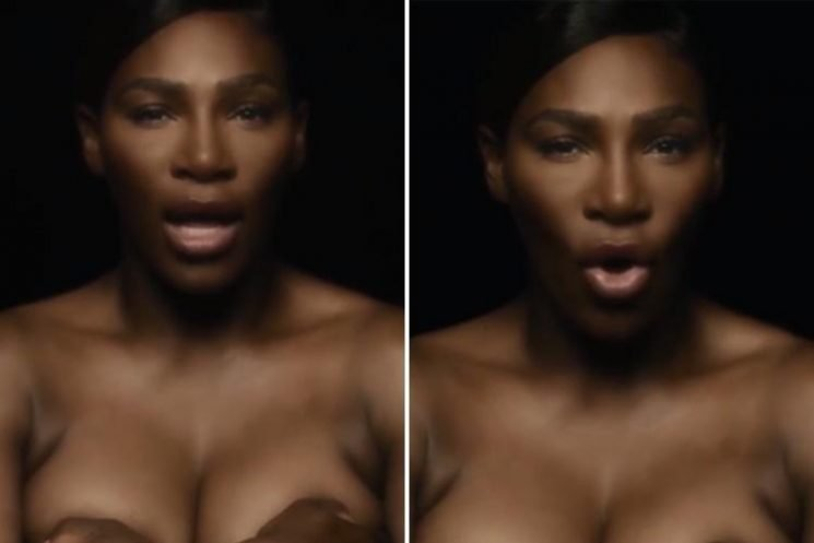 Serena Williams goes topless and sings I Touch Myself for Breast Cancer Awareness campaign