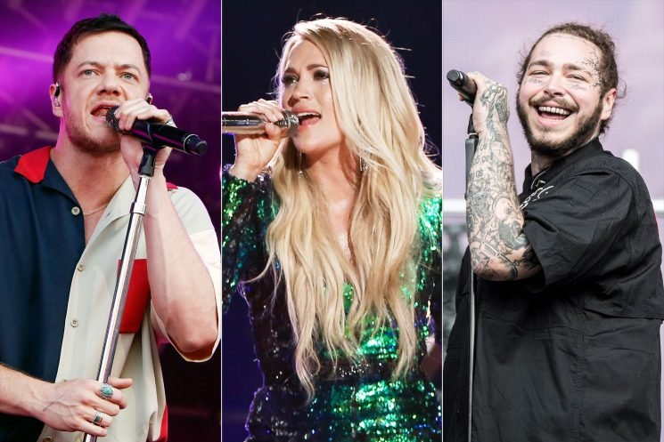 2018 AMAs Performers to Include Carrie Underwood, Imagine Dragons and Post Malone