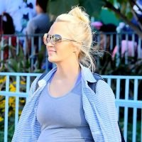 Pregnant Carrie Underwood Shows Off Baby Bump at Disneyland