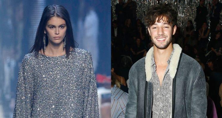 Cameron Dallas Supports Kaia Gerber at Isabel Marant Fashion Show