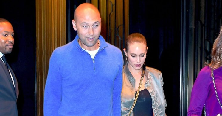 Derek Jeter's Wife Hannah Davis Debuts Baby Bump, Pregnant With Baby No. 2