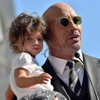 Dwayne Johnson's 2-Year-Old Daughter Jasmine Paints His Nails Red — See the Cute Photo