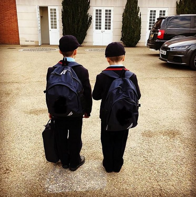 Elton John's Sons Head Back to School in Adorable Photo: They're 'Growing Up So Fast'