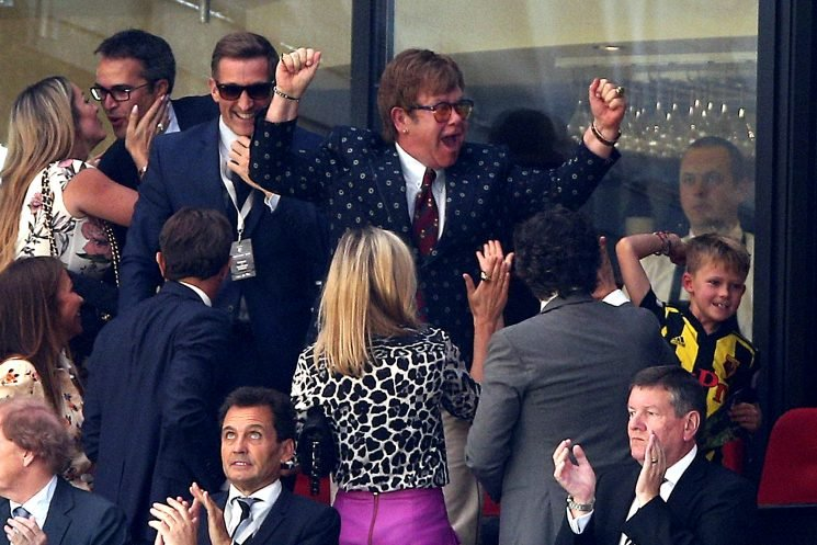 A Watford Win! Elton John and His Sons Cheer on His Favorite Soccer Team – See the Cute Photos