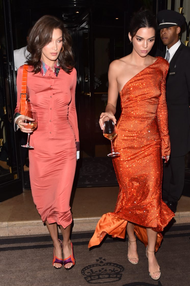 Kendall Jenner and Bella Hadid Take Their Wine to Go as They Party in Paris