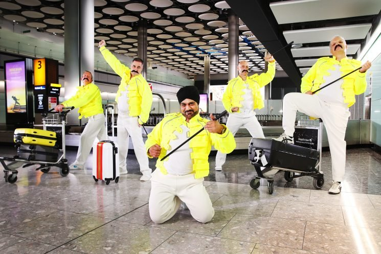 Baggage Handlers at Heathrow Airport Honor Freddie Mercury—Who Once Worked the Same Job