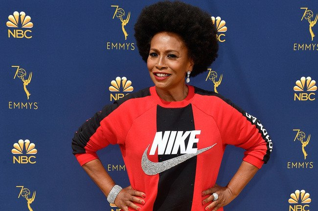 Jenifer Lewis Sports A Nike Sweatshirt On The Emmys Red Carpet To Support Colin Kaepernick