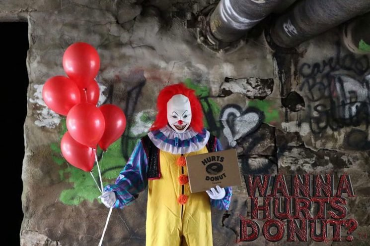 You Can Have a Creepy Clown Deliver Donuts to Your Friends for Halloween