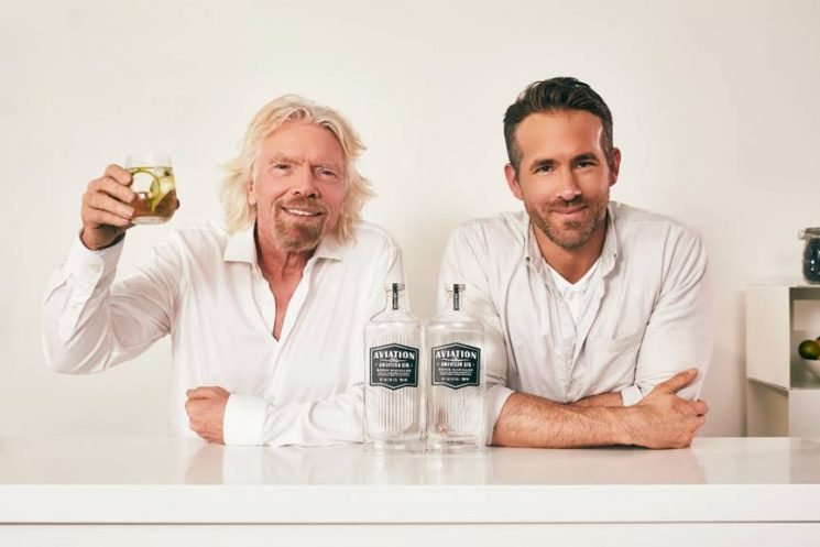 Ryan Reynolds' Aviation Gin Takes Partners with Sir Richard Branson and Virgin Atlantic