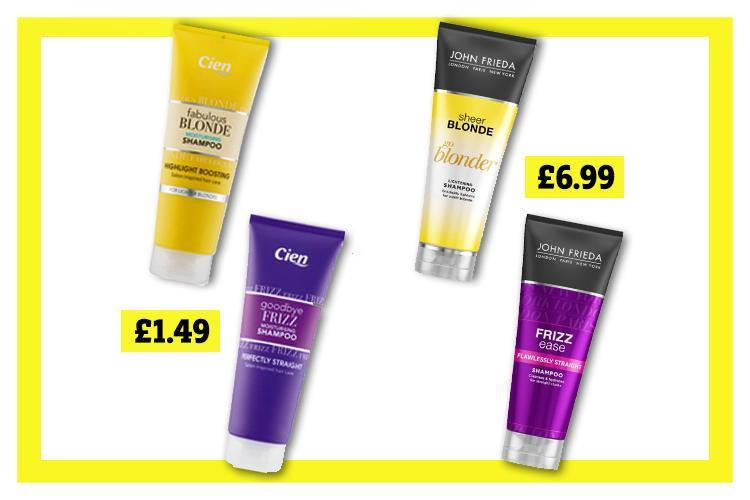 Lidl launches haircare range that looks EXACTLY the same as John Frieda products (but £5 cheaper)