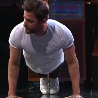 John Krasinski Does Push-Ups to Prove His Pecs Are Real: 'This Is Embarrassing'