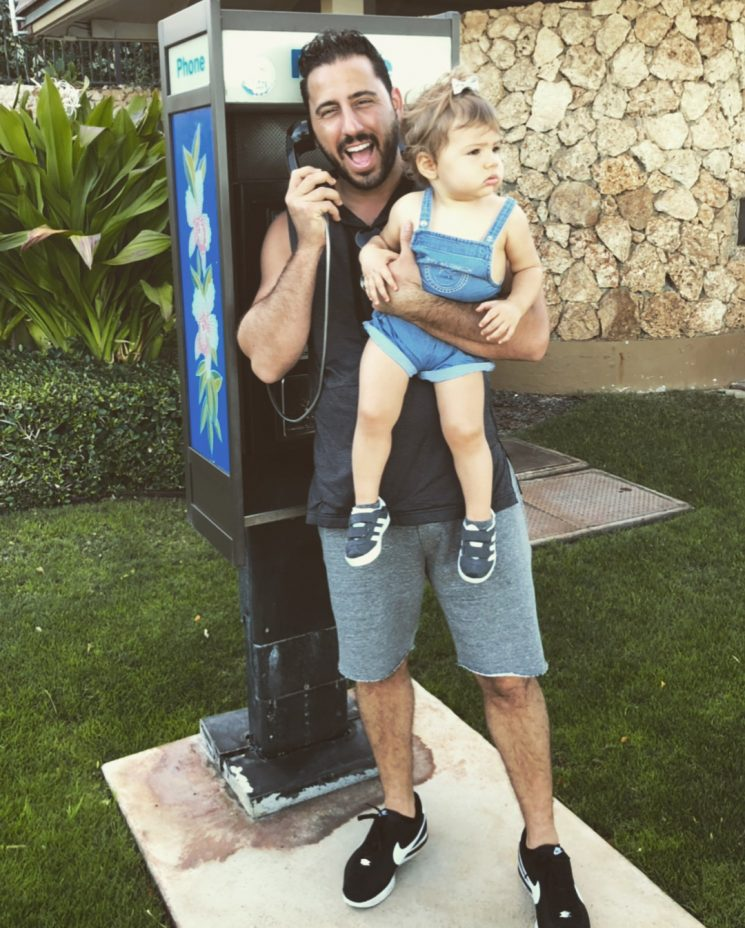 MDLLA's Josh Altman Uses Pay Phone to Close a Deal While on Hawaii Vacation with Baby Daughter