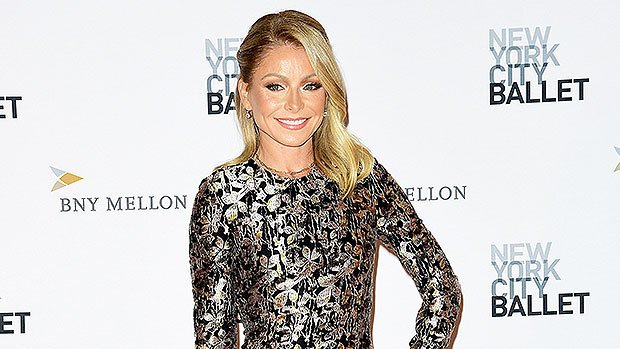 Kelly Ripa Flaunts Toned Body In Metallic Figure Hugging Gown At NYC Ballet Gala