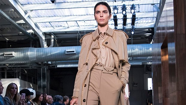 Kendall Jenner Returns To The Runway For Burberry & Looks Fierce AF After Skipping NYFW