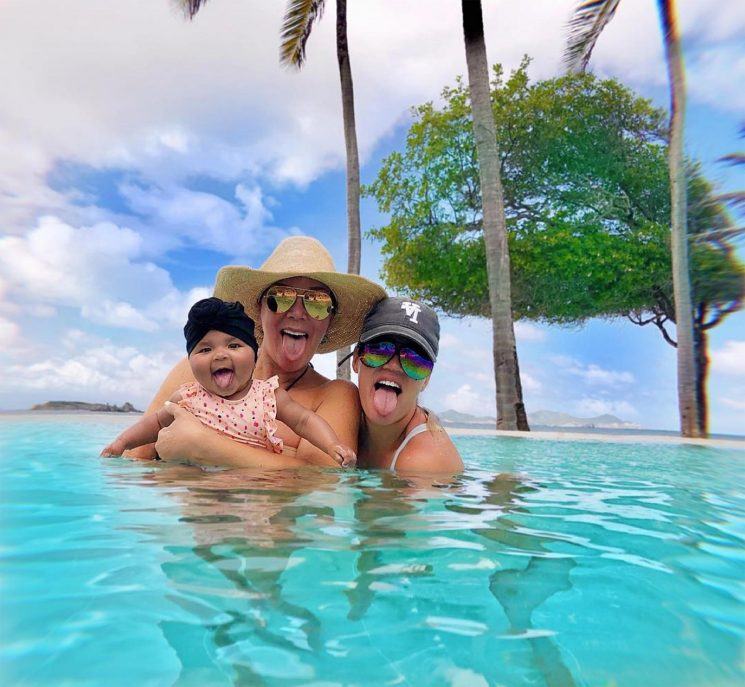 Khloé Kardashian, Kris Jenner and Baby True Adorably Channel Cardi B While on Vacation